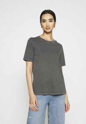 REGULAR FIT TEE OVERDYED - T-shirt basic - raven