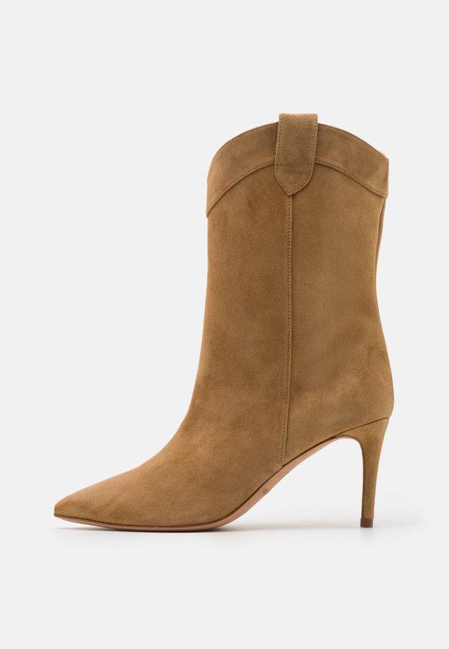 Cowboy/Biker boots - beige