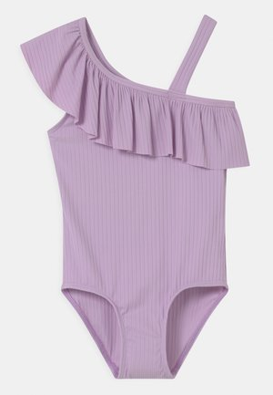 ONE SHOULDER - Swimsuit - light lilac