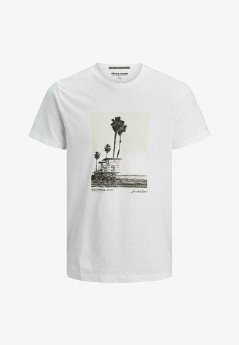 JORSTOP - Print T-shirt - white