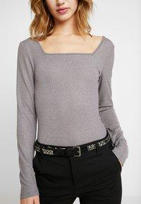 Glamorous - BODYSUIT 2 PACK - Long sleeved top - silver/black - 5