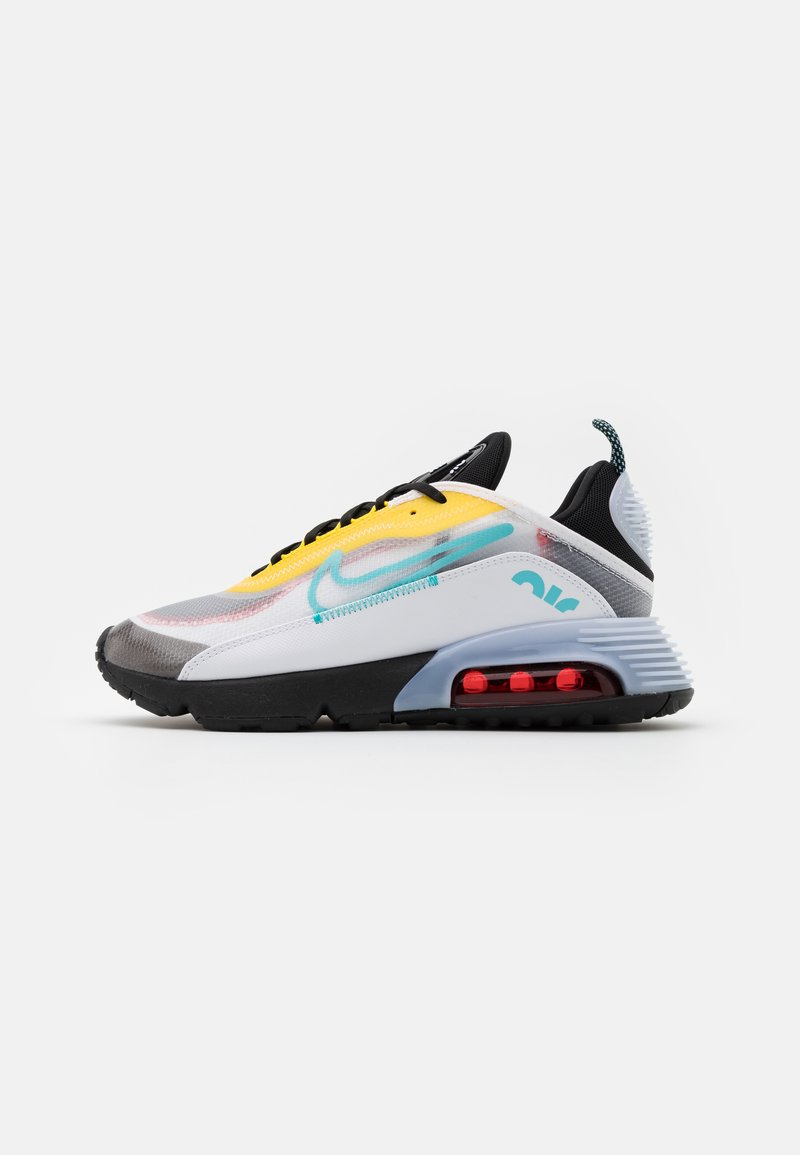 Nike Sportswear - Trainers - white/bleached aqua/black/speed yellow/chile red