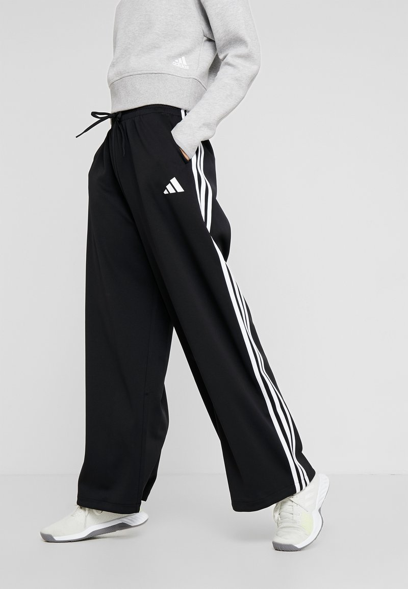 adidas Performance - WIDE PANT - Träningsbyxor - black