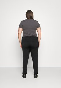 Simply Be - DEMI HIGH WAIST MOM - Relaxed fit jeans - washed black - 2
