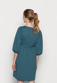 MAMALICIOUS - MLINA SHORT DRESS - Jersey dress - mallard blue - 2