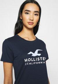 Hollister Co. - Print T-shirt - navy - 3