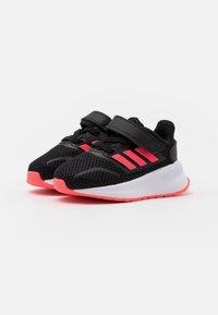 adidas Performance - RUNFALCON I UNISEX - Neutral running shoes - core black/signal pink/footwear white - 1