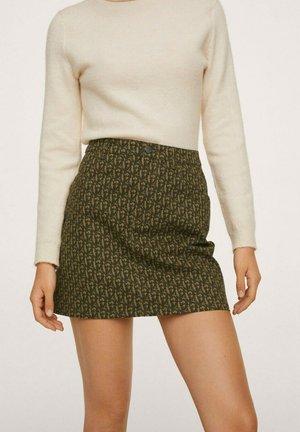 A-line skirt - marron