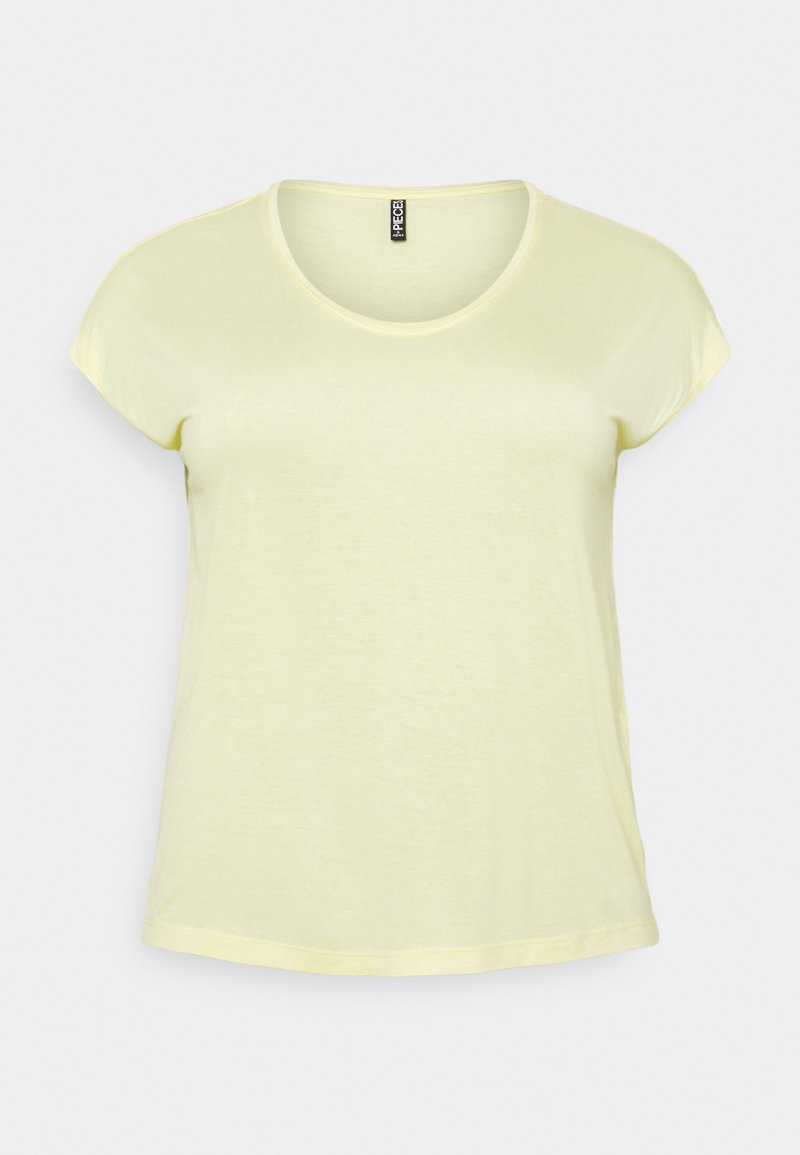 Pieces Curve - PCBILLO TEE SOLID - Basic T-shirt - pale banana