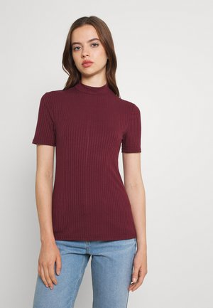 PCKYLIE T NECK - T-shirts - red mahogany cp
