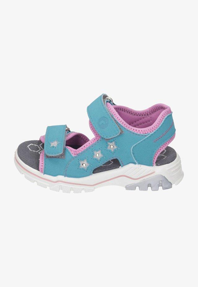 Walking sandals - aqua/rosada