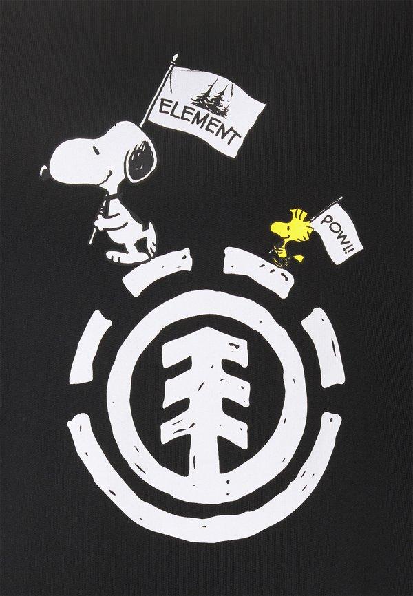 Element PEANUTS SLIDE - Bluza z kapturem - flint black/czarny Odzież Męska LZQR