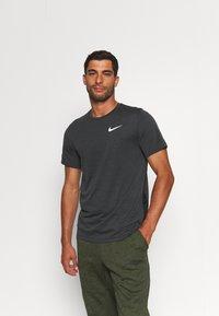 Nike Performance - HYPER DRY - Print T-shirt - black/iron grey/heather/white - 0