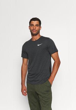 HYPER DRY - Camiseta estampada - black/iron grey/heather/white