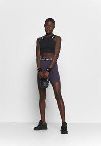 Nike Performance - SHORT HI RISE - Tights - dark raisin/black - 1