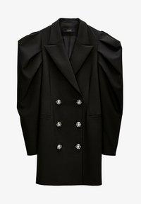 Uterqüe - Shirt dress - black - 5