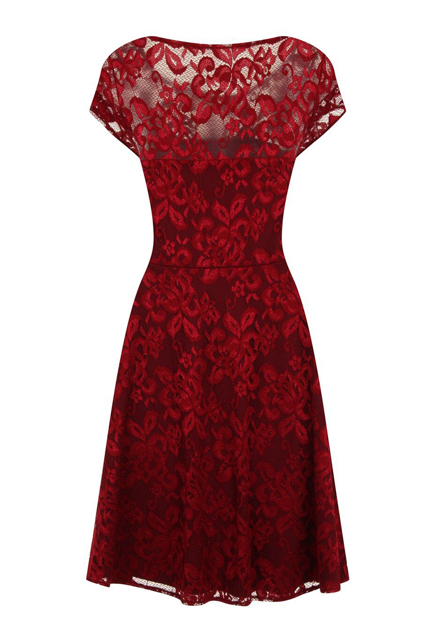 HotSquash LACE Cocktailkleid/festliches Kleid red/rot