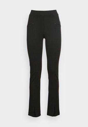 TREGGING PUNTO FRONT SPLIT - Leggings - black