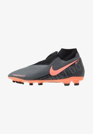 PHANTOM VSN PRO DF FG - Moulded stud football boots - dark grey/bright mango/black