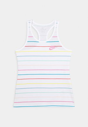 TANK GO STRIPES - Top - white/magic flamingo