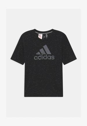LOGO TEE - T-shirt imprimé - black melange/black