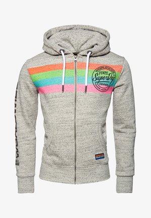 MIT STREIFEN  - Zip-up hoodie - grey
