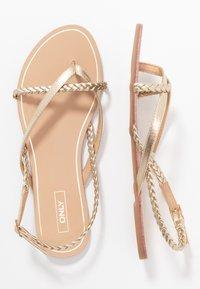 ONLY SHOES - ONLMARGIT BRAID SPLIT TOE  - T-bar sandals - gold - 3