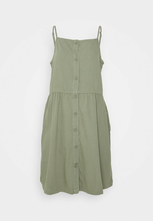 LOLLO DRESS - Day dress - khaki green medium dusty