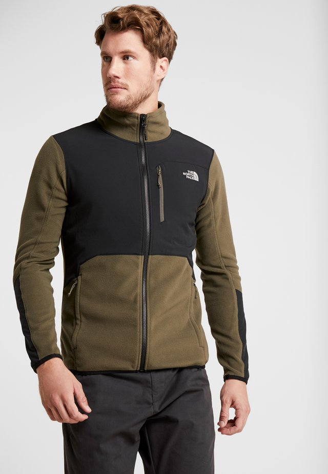 GLACIER PRO FULL ZIP - Fleecejas - new taupe green/black