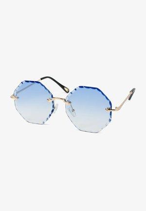 Sunglasses - gestell gold   glas blau verlauf