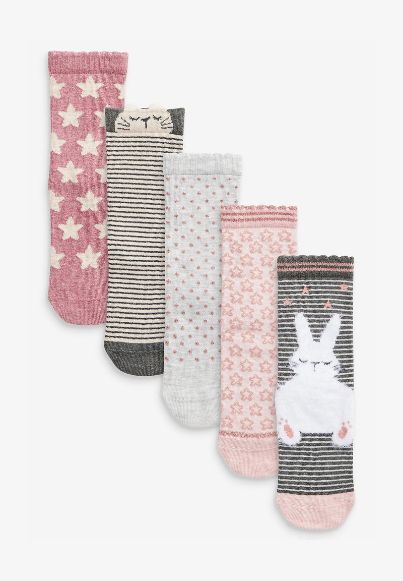 Next - 5 PACK BUNNY - Socks - pink