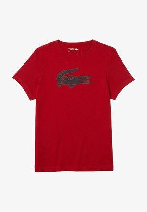 BIG LOGO - Print T-shirt - rouge  bleu marine