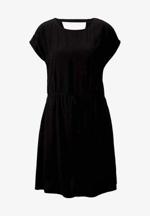 KLEIDER & JUMPSUITS MINIKLEID MIT LENZING(TM) ECOVERO(TM) - Vestito estivo - deep black