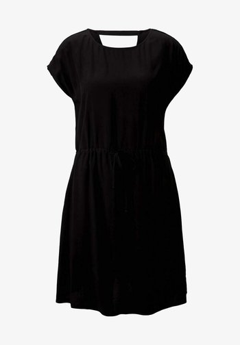 KLEIDER & JUMPSUITS MINIKLEID MIT LENZING(TM) ECOVERO(TM) - Robe d'été - deep black
