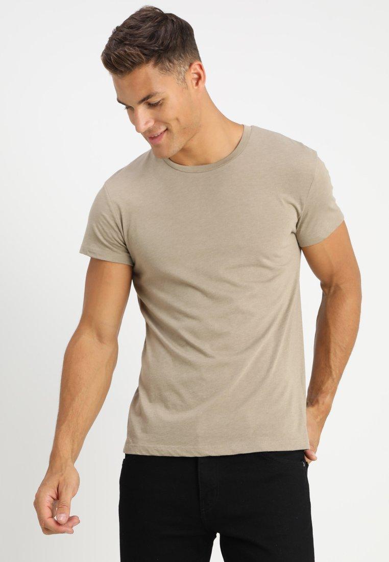 Samsøe Samsøe - KRONOS  - T-shirt - bas - timber wolf melange