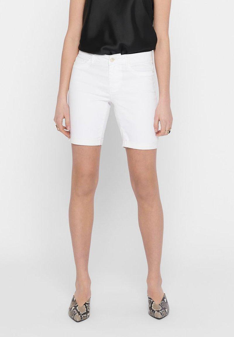 ONLY - Short en jean - white