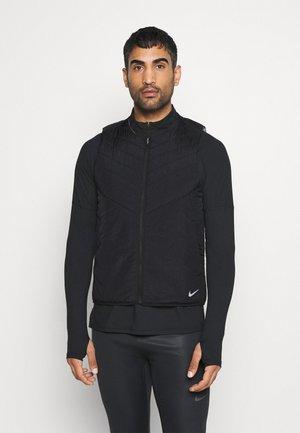 VEST - Waistcoat - black/reflective silver
