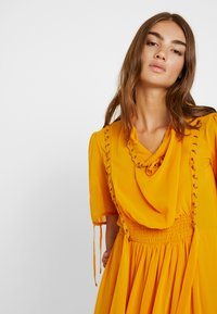 Topshop - EYETLET DETAIL COWL MIDI - Day dress - colour - 4