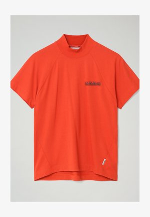 S-OODI - Print T-shirt - orange clay