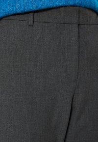 Selected Femme - MID WAIST - Trousers - dark grey - 3