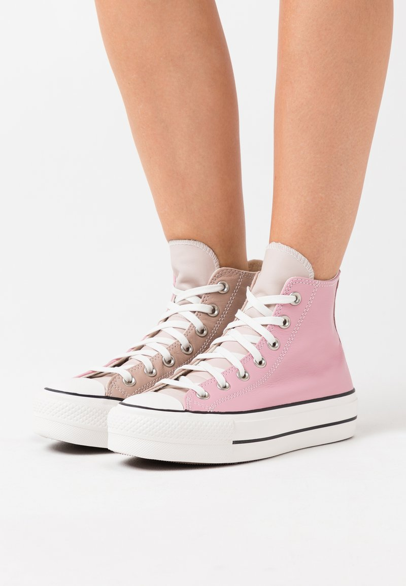 Converse - CHUCK TAYLOR ALL STAR LIFT - High-top trainers - salt pink/lotus pink/white