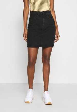 VMKATE SKIRT MIX - Denim skirt - black