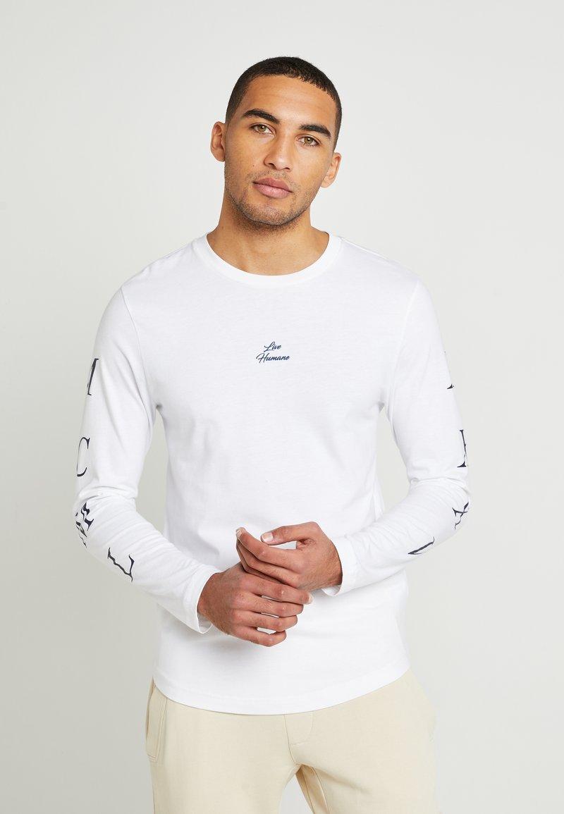 Tommy Hilfiger - UNISEX LEWIS HAMILTON LONG SLEEVE - Langærmede T-shirts - white