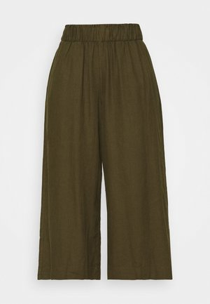 CROP - Bukse - khaki