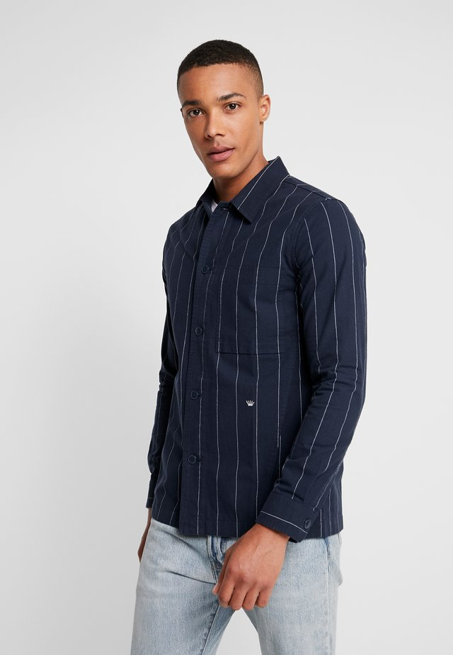OXFORD STRIPE - Shirt - navy