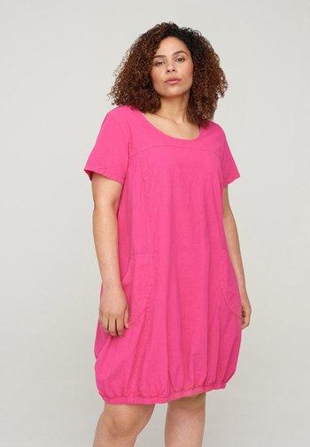 Day dress - fuchia purple