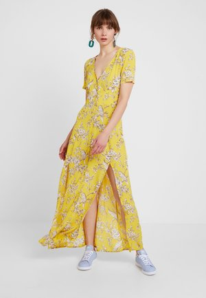 BIRD BUTTON THROUGH DRESS - Maxi šaty - yellow