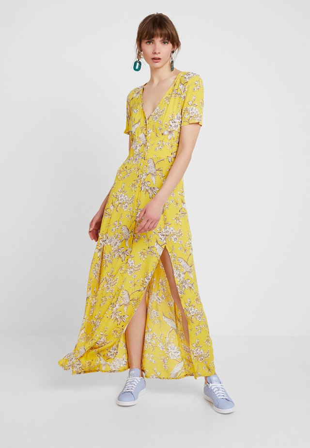 BIRD BUTTON THROUGH DRESS - Maxi dress - yellow