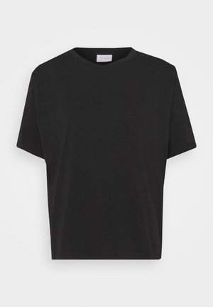 VISHOULDE - Basic T-shirt - black