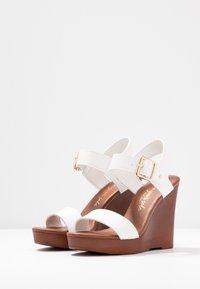 New Look - PERKIN - Højhælede sandaletter / Højhælede sandaler - white - 4